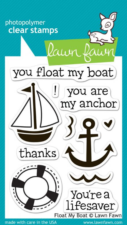 LF0654 M ~ FLOAT MY BOAT ~ CLEAR STAMPS BY LAWN FAWN